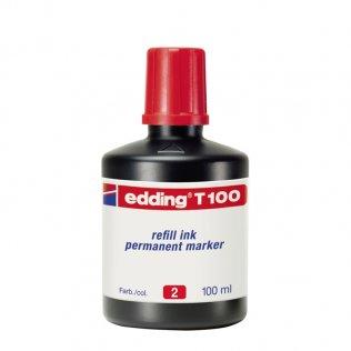 Tinta Rotulador edding T-100 Rojo 100 ml