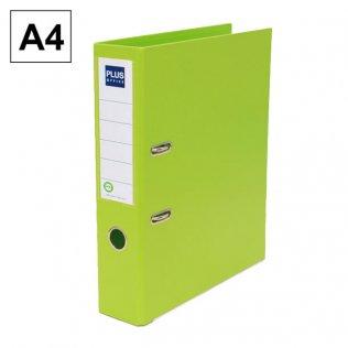 Archivador Plus Office E3R A4 Lomo 75mm Verde claro