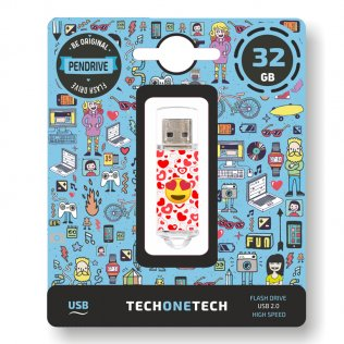 Pen drive Tech1Tech 32 GB Heart Eyes