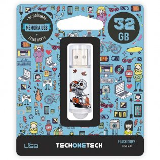 Pen drive Tech1Tech 32 GB Calavera Moto