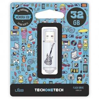 Pen drive Tech1Tech 32 GB Crazy Guitar