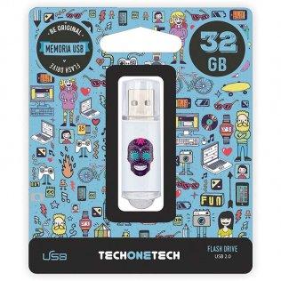 Pen drive Tech1Tech 32 GB Calavera Maya