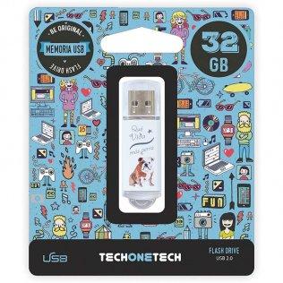 Pen drive Tech1Tech 32 GB Qué vida más perra
