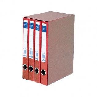 Módulo 4 archivadores 1344 Rojo Plus Office