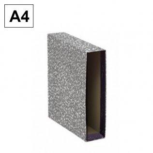 Caja archivador AZ Gris Jaspeado A4 Plus Office