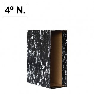 Caja archivador AZ Negro Jaspeado 4º Natural Plus Office
