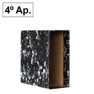 Caja archivador AZ Negro Jaspeado 4º Apaisado Plus Office
