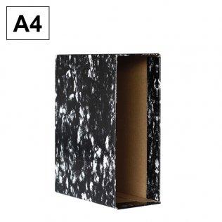 Caja archivador AZ Negro Jaspeado A4 Plus Office