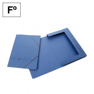 Carpeta con gomas azul Fº con solapas Makro Paper