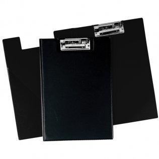 Carpeta Folio PVC negra con miniclip