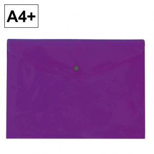 Sobre 2020 A4+ PP violeta apaisado broche Plus Office
