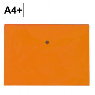 Sobre 2020 A4+ PP naranja apaisado broche Plus Office