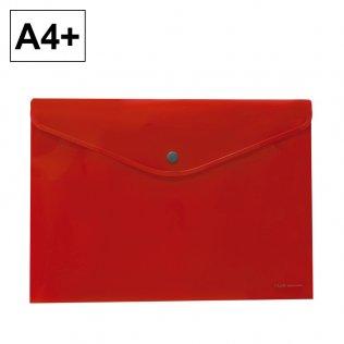Sobre 2020 A4+ PP rojo apaisado broche Plus Office
