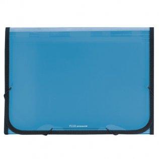 Carpeta clasificadora A4 azul traslúcida Plus Office