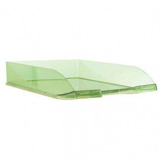 Bandeja sobremesa traslúcida verde Plus Office