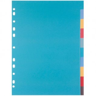 Separadores PP 10 colores Plus Office A4+