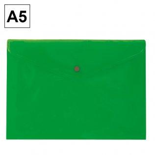 Sobre 2015 A5 PP verde apaisado broche Plus Office