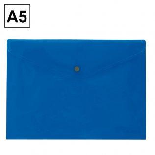 Sobre 2015 A5 PP azul apaisado broche Plus Office