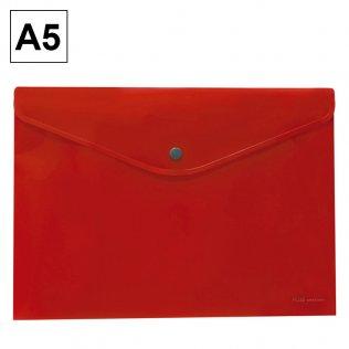 Sobre 2015 A5 PP rojo apaisado broche Plus Office