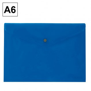 Sobre 2016 A6 PP azul apaisado broche Plus Office