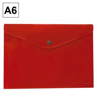 Sobre 2016 A6 PP rojo apaisado broche Plus Office