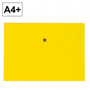 Sobre 2020 A4+ PP amarillo apaisado broche Plus Office