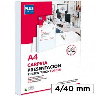 Carpeta Canguro rígida 4 anillas 40mm Plus Office