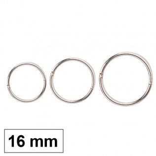 Anillas metálicas 16 mm -50 ud