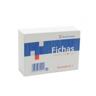 Fichas rayadas 65x95mm Nº1 100 hojas Makro Paper