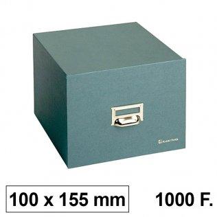 Ficheros de cartón Karman. Tamaño 100x155mm. Para 1000 fichas 75x125mm.