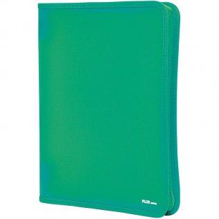 Carpeta con cremallera A4 Verde Plus Office