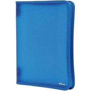 Carpeta con cremallera A4 Azul Plus Office
