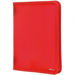 Carpeta con cremallera A4 Rojo Plus Office