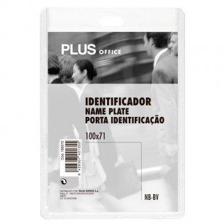 Identificador PP rígido 101x71mm vertical Plus Office