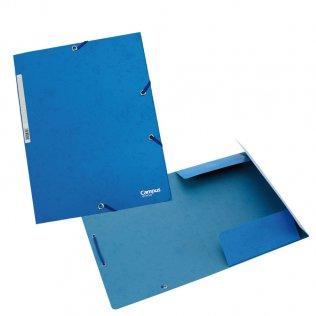 Carpeta A4+ azul goma y solpas cartón Campus