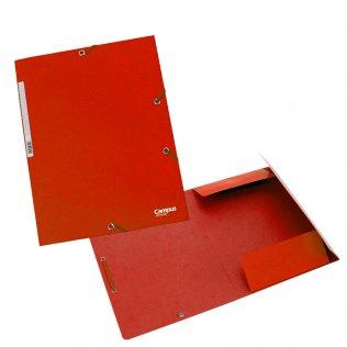 Carpeta A4+ roja con goma y solpas cartón Campus