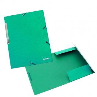 Carpeta A4+ verde con goma y solpas cartón Campus