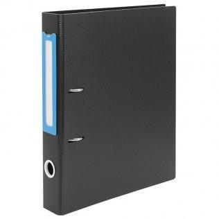 Archivador PP rígido Azul-Negro Lomo 50mm Plus Office