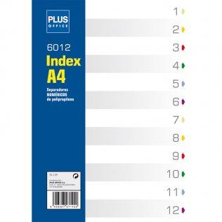 Indice numérico A4 12 separadores