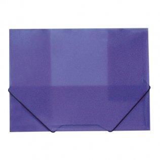 Carpeta A4+ violeta gomas y solpas traslúcida