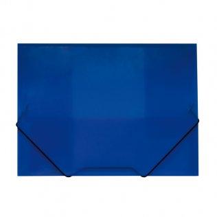 Carpeta A4+ azul gomas y solapas traslúcida