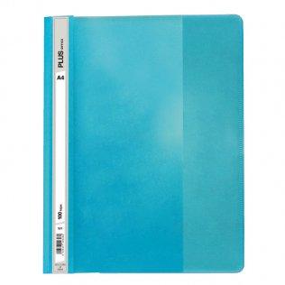 Dossier A4 azul claro fástener plástico Plus Office 100 hojas