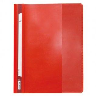 Dossier A4 rojo fástener plástico Plus Office 100 hojas