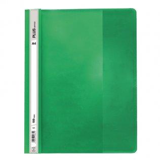 Dossier A4 verde fástener plástico Plus Office 100 hojas