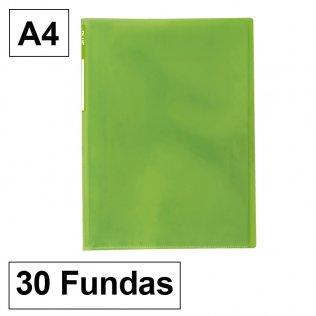 Carpeta 6030 A3 verde 30 fundas Plus Office