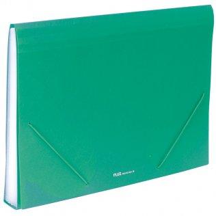 Carpeta clasificadora A4 Verde opaco Plus Office