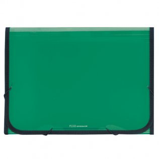Carpeta clasificadora A4 verde traslúcida Plus Office