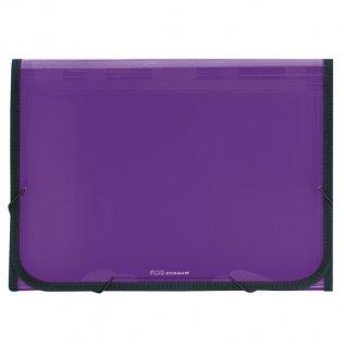 Carpeta clasificadora A4 violeta traslúcida Plus Office