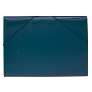 Carpeta PVC Folio gomas y solapas azul marino