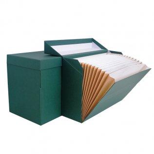 Caja transferencia Karman Folio con fuelle verde